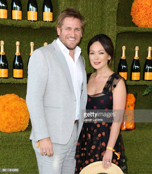 Chef Curtis Stone and actress Lindsay Price attend the 8th annual Veuve Clicquot Polo Classic at Will Rogers State Historic Park on October 14 2017...