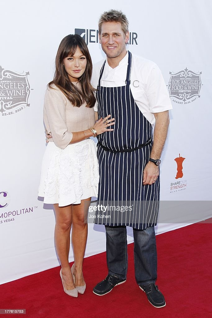 Chef Curtis Stone and actress Lindsay Price attends LEXUS Live On Grand At The 3rd Annual Los Angeles Food & Wine Festival on August 24, 2013 in Los Angeles, California.