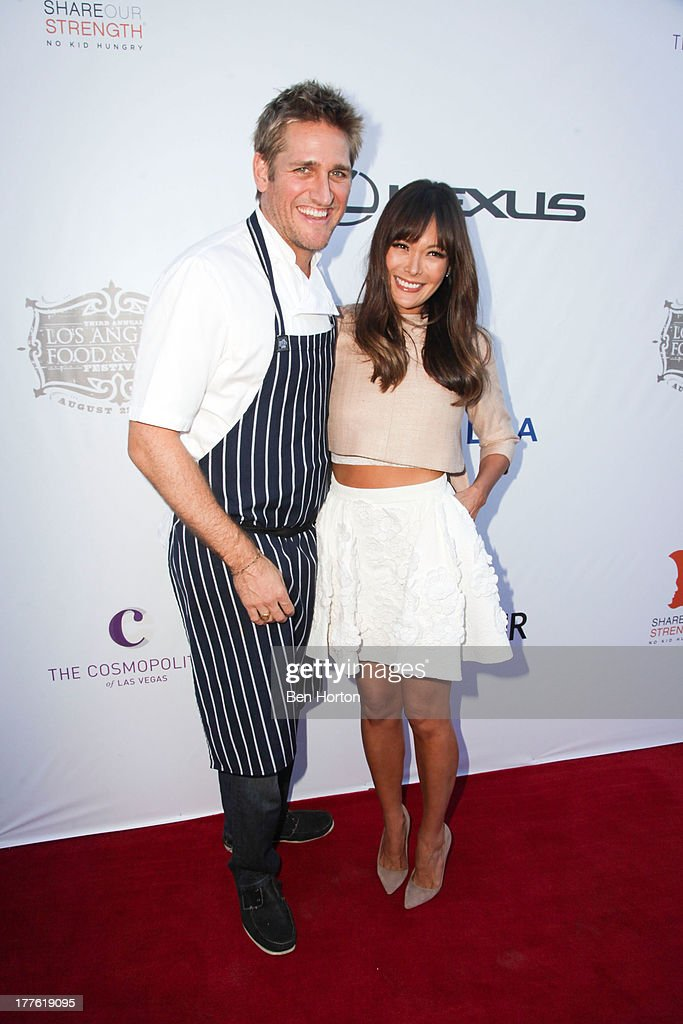 Chef Curtis Stone and his wife Lindsay Price attend LEXUS Live on Grand hosted by Curtis Stone at the third annual Los Angeles Food & Wine Festival on August 24, 2013 in Los Angeles, California.