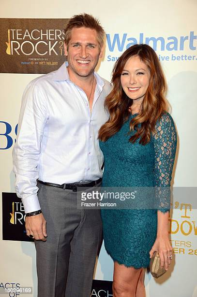 Chef Curtis Stone and Lindsay Price attends CBS' Teacher's Rock Special Live Concert Press Room at Nokia Theatre LA Live on August 14 2012 in Los...