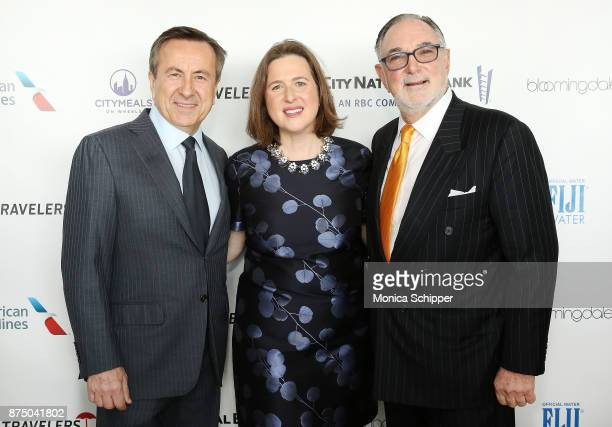 Chef Daniel Boulud Executive Director of Citymeals on Wheels Beth Shapiro and Bob Grimes attend the 31st Annual Citymeals On Wheels Power Lunch For...