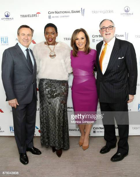 Chef Daniel Boulud honoree Tren'ness WoodsBlack Rosanna Scotto and Bob Grimes attend the 31st Annual Citymeals On Wheels Power Lunch For Women at The...