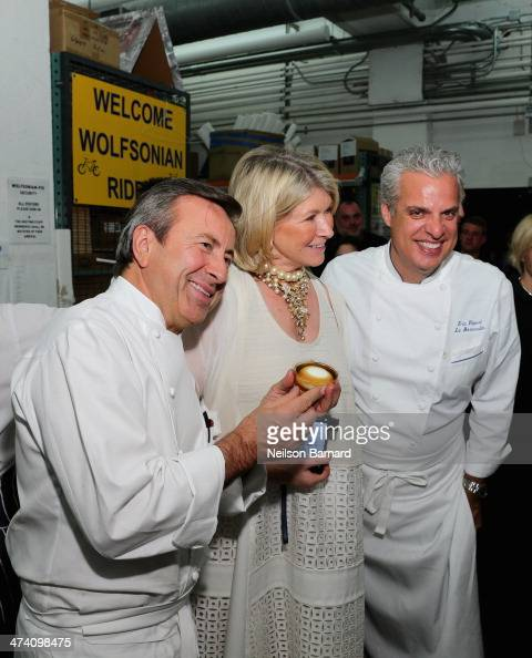 Chef Daniel Boulud Martha Stewart and chef Eric Ripert attend Ocean Liner dinner hosted by Anthony Bourdain Frederic Morin David McMillan Andrew...