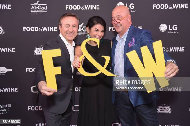 Chef Daniel Boulud Nilou Motamed Editor of Time Inc's Food Wine and Andrew Zimmern attend the Food Wine Celebration of the 2017 Best New Chefs on...