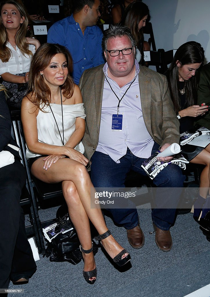 Chef David Burke (R) attends the Emerson By Jackie Fraser-Swan fashion show during Mercedes-Benz Fashion Week Spring 2014 at The Studio at Lincoln Center on September 8, 2013 in New York City.