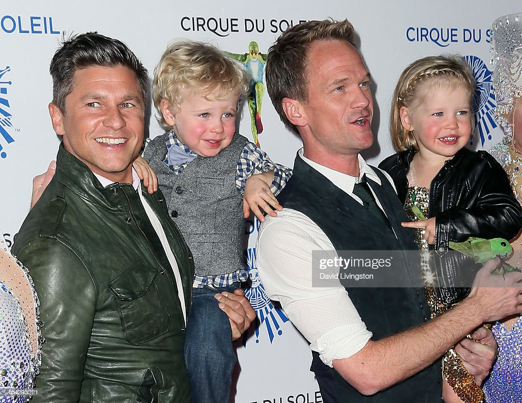 Chef <a gi-track='captionPersonalityLinkClicked' href=/galleries/search?phrase=David+Burtka&family=editorial&specificpeople=572242 ng-click='$event.stopPropagation()'>David Burtka</a>, son Gideon Scott, partner actor <a gi-track='captionPersonalityLinkClicked' href=/galleries/search?phrase=Neil+Patrick+Harris&family=editorial&specificpeople=210509 ng-click='$event.stopPropagation()'>Neil Patrick Harris</a> and daughter Harper Grace attend opening night of Cirque du Soleil's 'Totem' at the Santa Monica Pier on January 21, 2014 in Santa Monica, California.