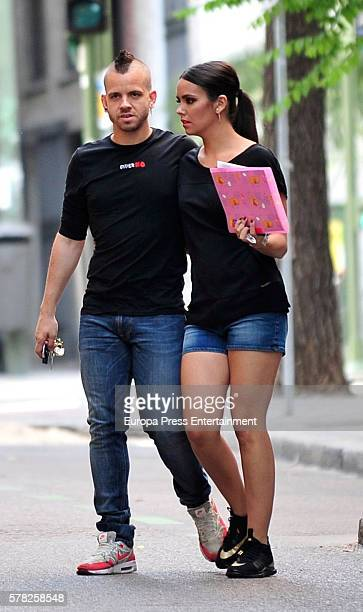 Chef David Munoz and Cristina Pedroche are seen on June 9 2016 in Madrid Spain