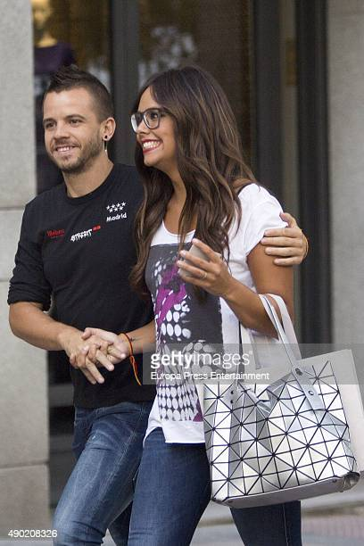 Chef David Munoz and Cristina Pedroche is seen on August 26 2015 in Madrid Spain
