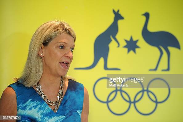Chef de Mission of the 2016 Australian Olympic Team Kitty Chiller speaks to media during the Australian Canoe/KayakSprint 2016 Olympic Games Team...