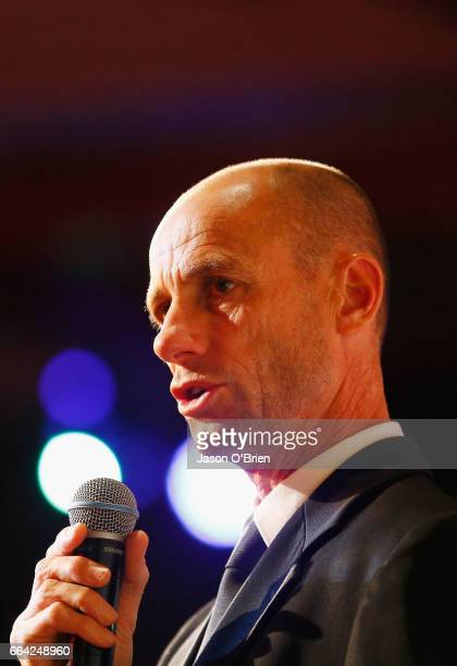 Chef de Mission Steve Moneghetti during the 2018 Commonwealth Games One Year To Go ceremony at The Star Gold Coast on April 4 2017 in Gold Coast...