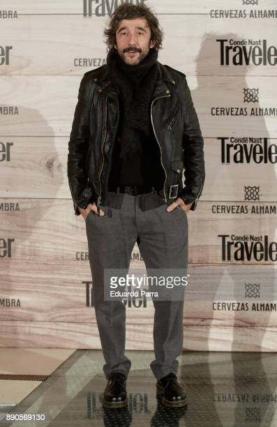 Chef Diego Guerrero attends the 'Conde Nast Traveler Gastronomic and Wine Guide' photocall at Florida Retiro on December 11 2017 in Madrid Spain