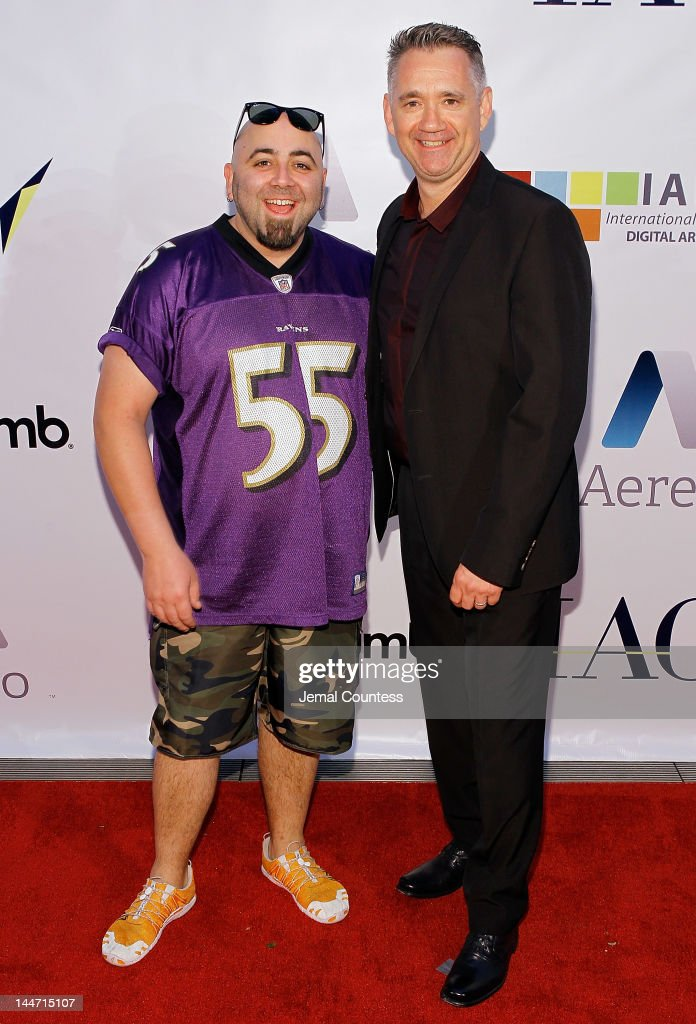 Chef <a gi-track='captionPersonalityLinkClicked' href=/galleries/search?phrase=Duff+Goldman&family=editorial&specificpeople=5366392 ng-click='$event.stopPropagation()'>Duff Goldman</a> and CEO of Electus' New Food-Centric YouTube Channel Bruce Seidel attends the IAC & Aereo IWNY HQ Closing Party on May 17, 2012 in New York City.