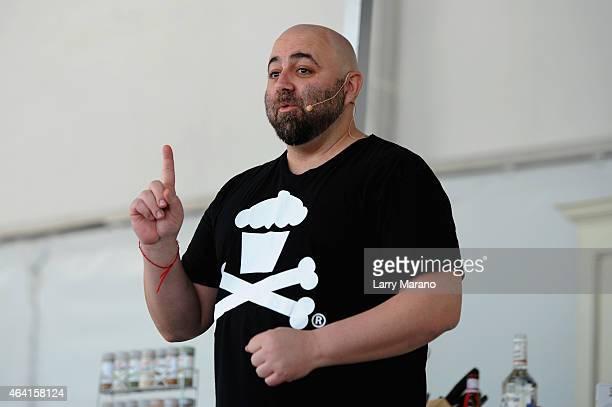 Chef Duff Goldman speaks onstage at Whole Foods Market Grand Tasting Village featuring MasterCard Grand Tasting Tents KitchenAid Culinary...