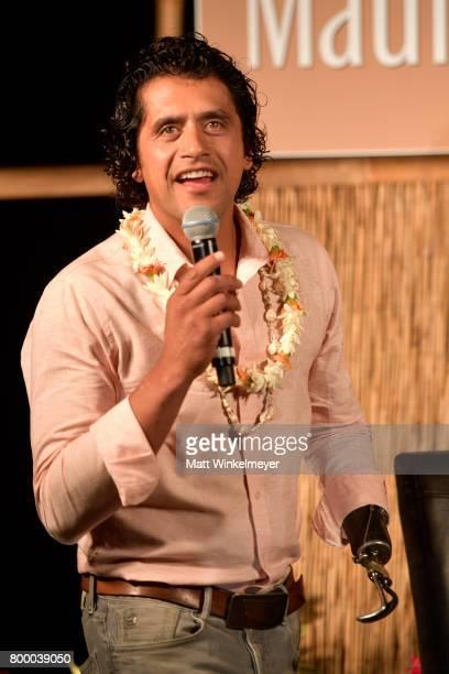 Chef Eduardo Garcia speaks at the 'Celestial Cinema' on day two of the 2017 Maui Film Festival at Wailea on June 22 2017 in Wailea Hawaii