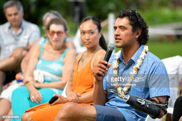 Chef Eduardo Garcia speaks during the 'Filmmakers Panel' on day four of the 2017 Maui Film Festival at Wailea on June 24 2017 in Wailea Hawaii