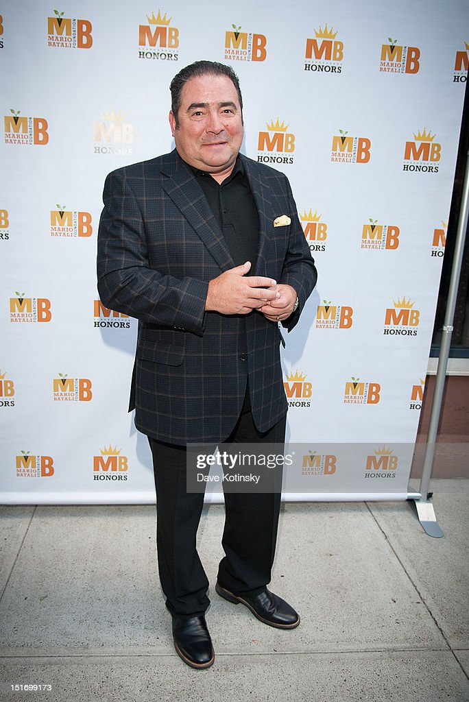 Chef <a gi-track='captionPersonalityLinkClicked' href=/galleries/search?phrase=Emeril+Lagasse&family=editorial&specificpeople=228524 ng-click='$event.stopPropagation()'>Emeril Lagasse</a> attends The Mario Batali Foundation Inaugural Honors Dinner at Del Posto Ristorante on September 9, 2012 in New York City.