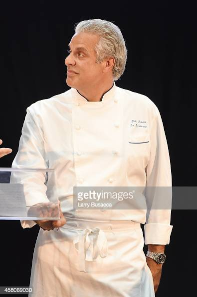 Chef Eric Ripert appears onstage at City Harvest's 20th annual Bid Against Hunger on October 29 2014 in New York City