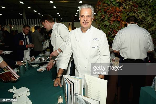 Chef Eric Ripert attends City Harvest's 21st Annual Bid Against Hunger at Pier 36 on October 7 2015 in New York City