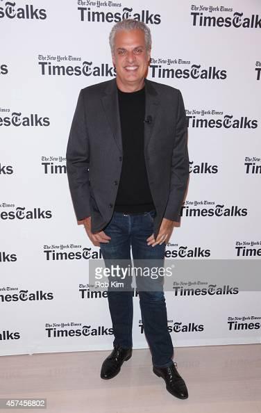 Chef Eric Ripert attends TimesTalk Alain Ducasse Daniel Boulud Eric Ripert during the NFood Network New York City Wine Food Festival Presented By...