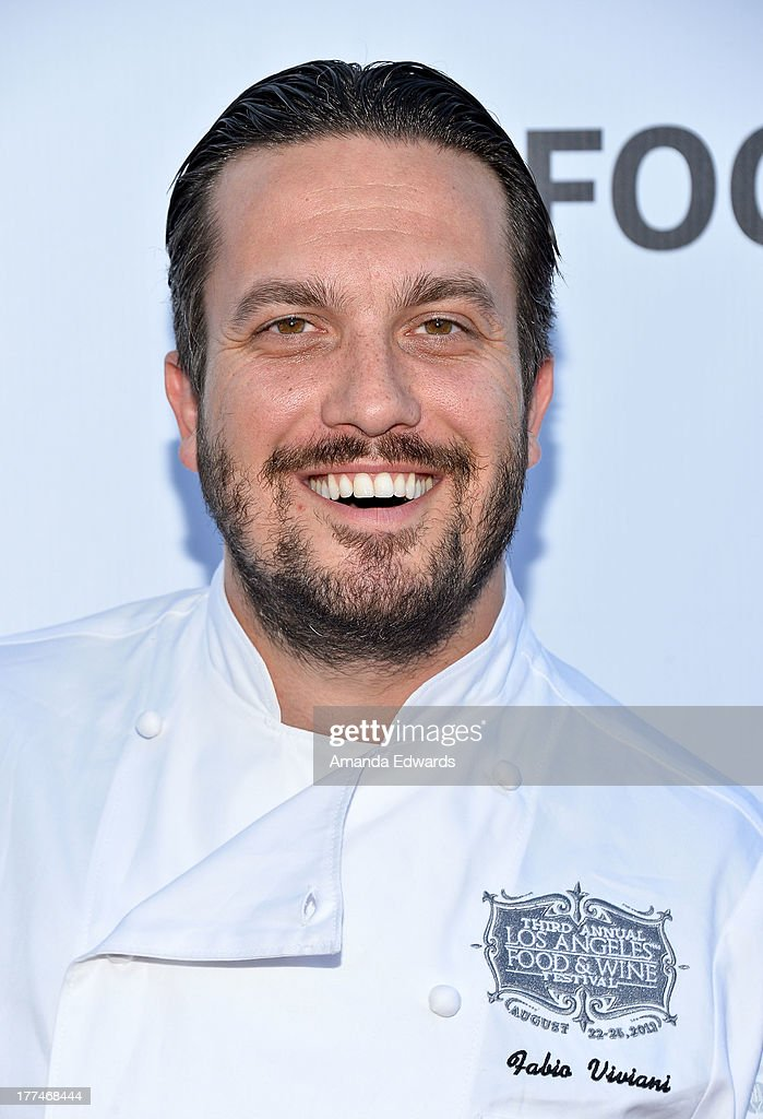 Chef Fabio Viviani arrives at the opening night of the 2013 Los Angeles Food & Wine Festival - 'Festa Italiana With Giada De Laurentiis' on August 22, 2013 in Los Angeles, California.