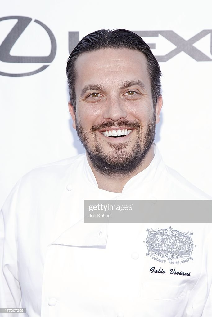 Chef Fabio Viviani attends the 2013 Los Angeles Food & Wine Festival 'Festa Italiana With Giada De Laurentiis' Opening Night Gala on August 22, 2013 in Los Angeles, California.