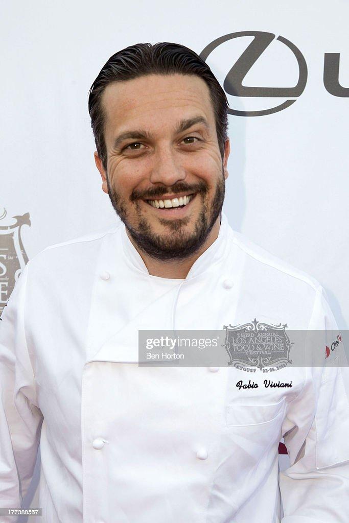 Chef Fabio Viviani attends the Festa Italiana with Giada de Laurentiis opening night celebration of the third annual Los Angeles Food & Wine Festival on August 22, 2013 in Los Angeles, California.