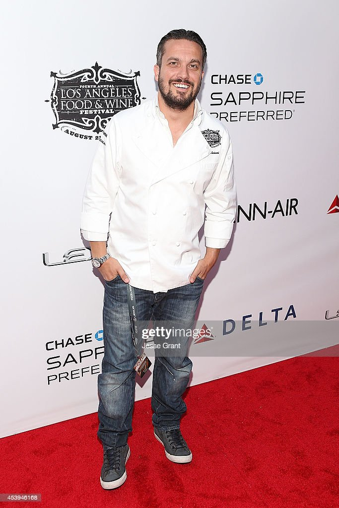 Chef Fabio Viviani attends Ultimate Bites of L.A. Presented by Chase Sapphire Preferred, Hosted by Chef Graham Elliot & Fabio Viviani on August 21, 2014 in Los Angeles, California.