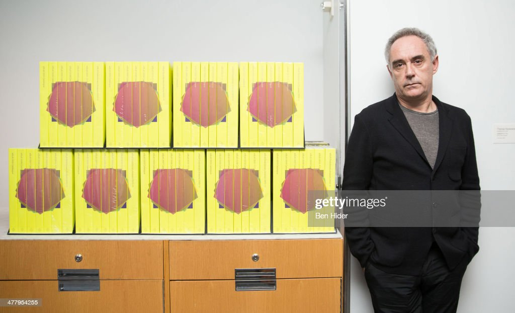 Chef Ferran Adria Acosta promotes his 'elBulli 2005-2011' Book at the Museum of Modern Art on March 11, 2014 in New York City.