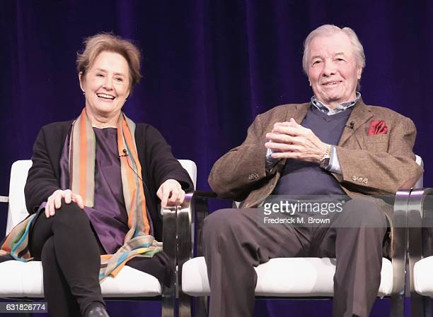 """Chef film subject """"James Beard America's First Foodie"""" Alice Waters and chef film subject Jacques Pepin of 'AMERICAN MASTERS """"Chefs Flight""""' speak..."""