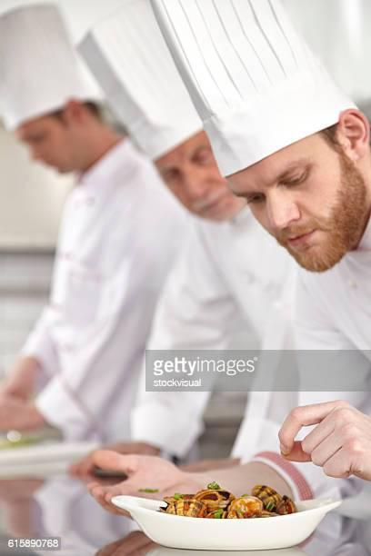 Koch beenden Oyster Gericht