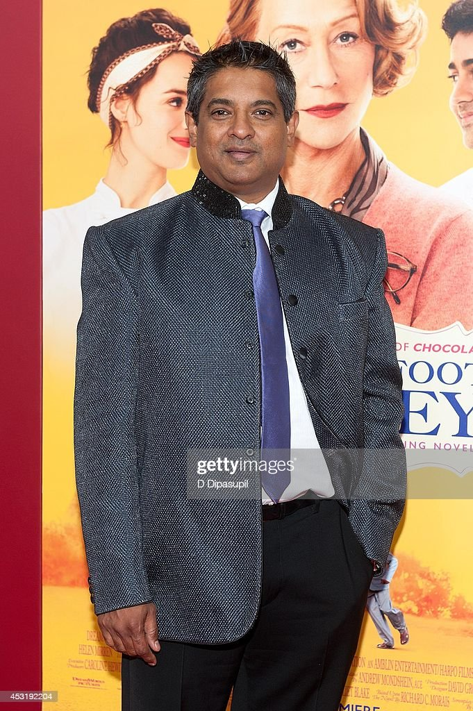 Chef Floyd Cardoz attends 'The Hundred-Foot Journey' New York premiere at the Ziegfeld Theater on August 4, 2014 in New York City.