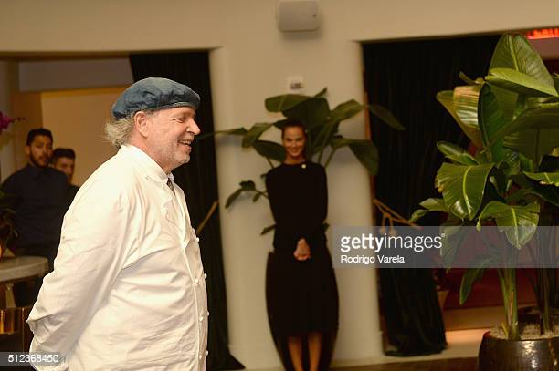 Chef Francis Mallmann speaks at a Dinner Hosted By Francis Mallmann And Paul Qui during 2016 Food Network Cooking Channel South Beach Wine Food...
