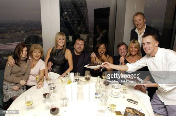 Chef Gary Rhodes hosts a lunch for the I'm a CelebrityGet Me Out of Here contestants Jenny Bond and her daughter Emma Neil 'Razor' Ruddock and his...