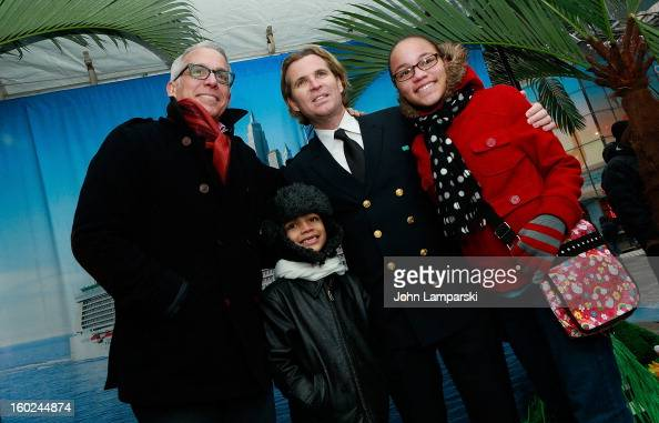 Chef Geoffrey Zakarian and Director of Hotel Operations Klaus Lugmaier attend the Norwegian Warming Station launch in Times Square on January 28 2013...