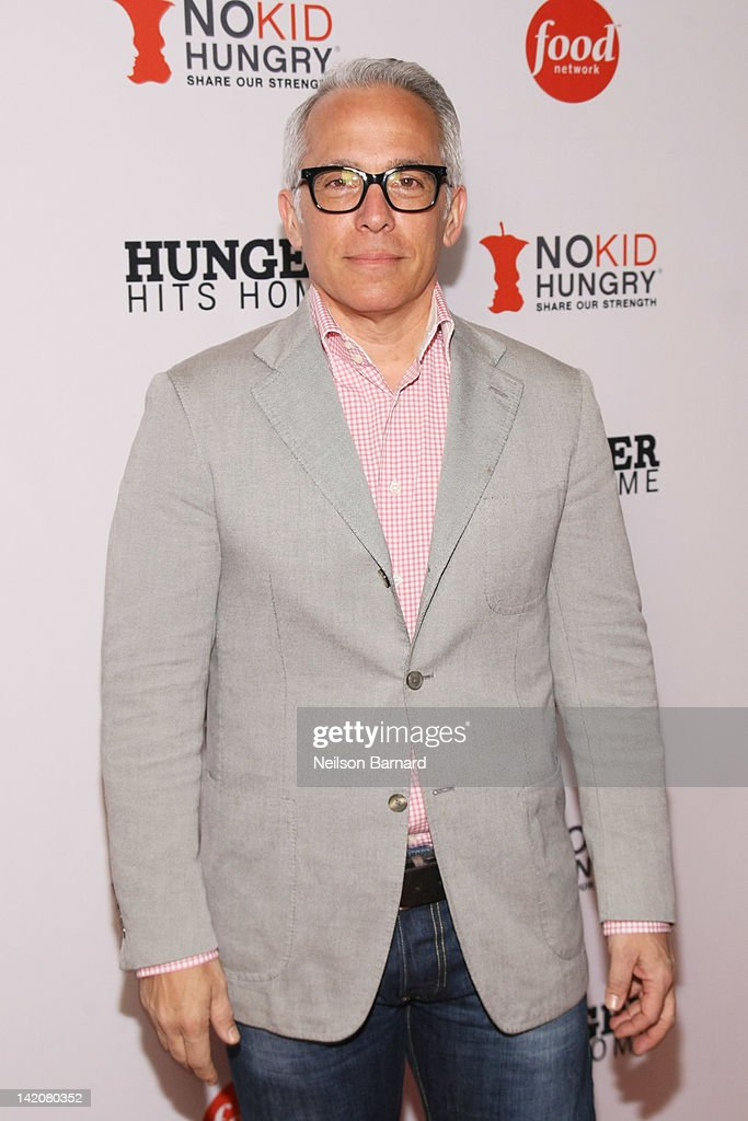 Chef Geoffrey Zakarian attends the 'Hunger Hits Home' screening at the Hearst Screening Room on March 29, 2012 in New York City.