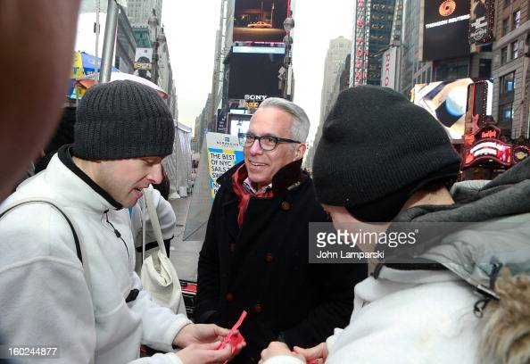 Chef Geoffrey Zakarian attends the Norwegian Warming Station launch in Times Square on January 28 2013 in New York City