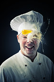 Chef getting a egg in the head