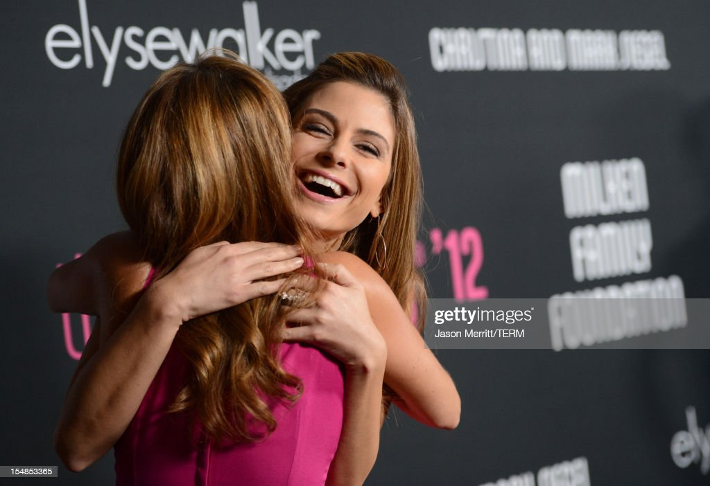 Chef Giada De Laurentiis (L) and TV personality Maria Menounos arrives at Elyse Walker presents the 8th annual Pink Party hosted by Michelle Pfeiffer to benefit Cedars-Sinai Women's Cancer Program held at