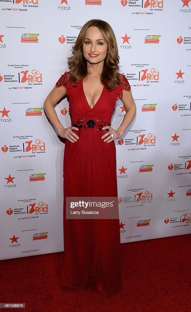 Chef Giada De Laurentiis attends Go Red For Women The Heart Truth Red Dress Collection 2014 Show Made Possible By Macy's And SUBWAY Restaurants at The Theatre at Lincoln Center on February 6, 2014 in New York City.