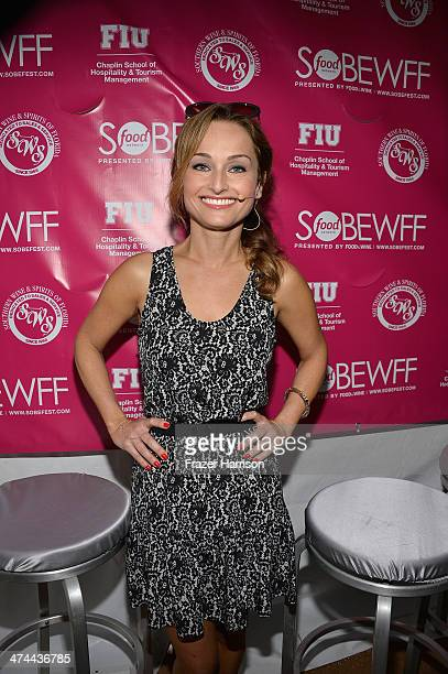 Chef Giada De Laurentiis attends KitchenAid® Culinary Demonstrations during the Food Network South Beach Wine Food Festival at Grand Tasting Village...