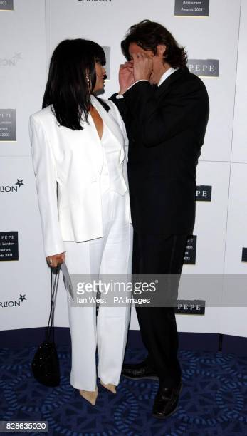 Chef Giorgio Locatelli and wife Plaxy of Locanda locatelli arrive for the Tio Pepe/Carlton London Restaurant Awards 2003 at Le Meridien Grosvenor...