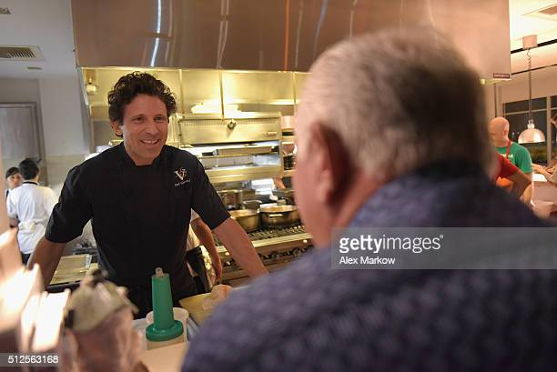 Chef Giovanni Rocchio presents food at a Dinner Hosted By Marc Vetri And Giovanni Rocchio Part of the Taste Fort Lauderdale Seriesduring 2016 Food...