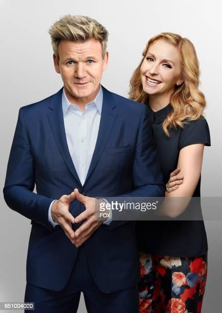 Chef Gordon Ramsay and pastry chef Christina Tosi in MASTERCHEF CELEBRITY SHOWDOWN airing Monday Jan 2 on FOX