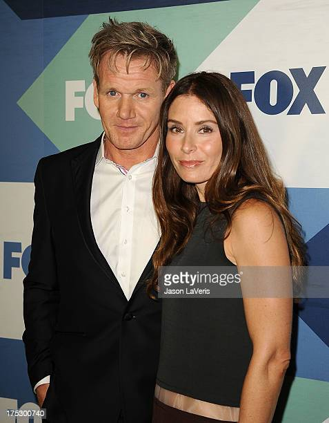 Chef Gordon Ramsay and wife Tana Ramsay attend the FOX AllStar Party on August 1 2013 in West Hollywood California