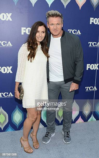 Chef Gordon Ramsay and wife Tana Ramsay attend the FOX Summer TCA Press Tour on August 8 2016 in Los Angeles California
