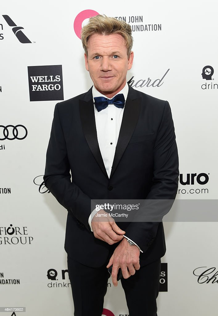 Chef Gordon Ramsay attends the 23rd Annual Elton John AIDS Foundation Academy Awards Viewing Party on February 22 2015 in Los Angeles California
