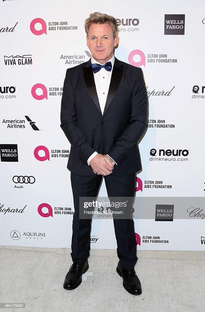 Chef Gordon Ramsay attends the 23rd Annual Elton John AIDS Foundation's Oscar Viewing Party on February 22 2015 in West Hollywood California