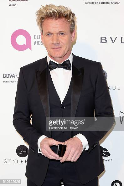 Chef Gordon Ramsay attends the 24th Annual Elton John AIDS Foundation's Oscar Viewing Party on February 28 2016 in West Hollywood California