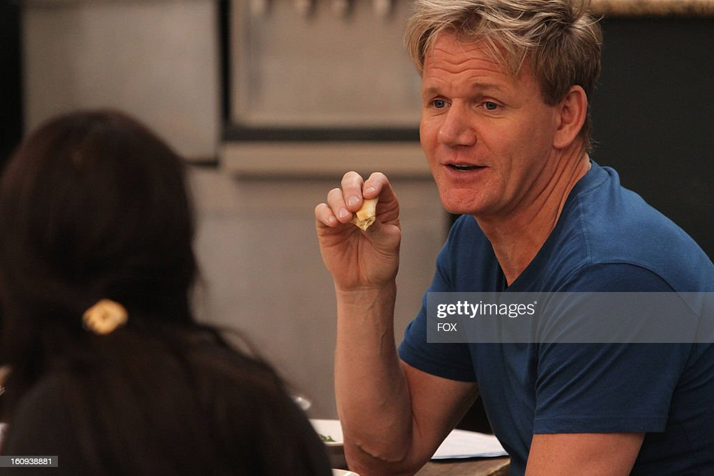 Chef <a gi-track='captionPersonalityLinkClicked' href=/galleries/search?phrase=Gordon+Ramsay&family=editorial&specificpeople=210520 ng-click='$event.stopPropagation()'>Gordon Ramsay</a> in the all-new 'Sam's Mediterranean Kabob Room' episode of KITCHEN NIGHTMARES airing Friday, February 15, 2013 (8:00-9:00 PM ET/PT) on FOX.