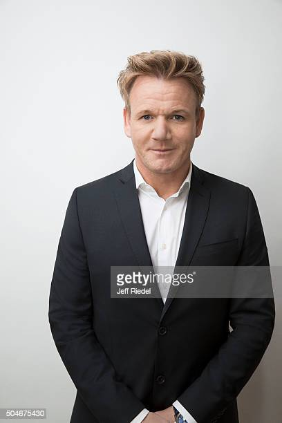 Chef Gordon Ramsay is photographed for TV Guide Magazine on January 17 2015 in Pasadena California